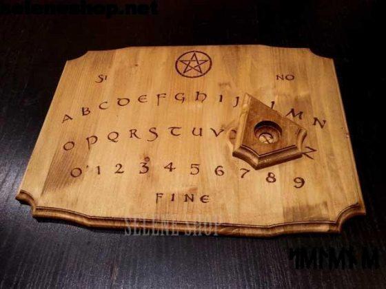 tavola ouija in legno naturale
