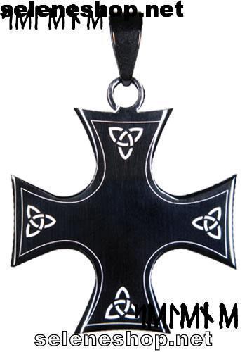 ciondolo croce celtica nera