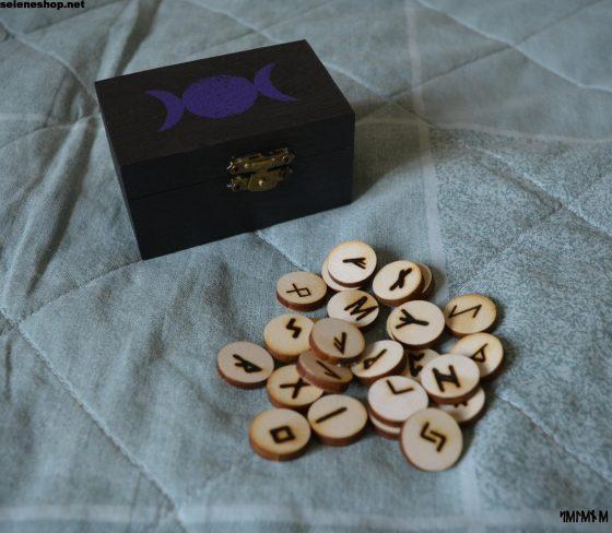 scatola tre lune nero viola