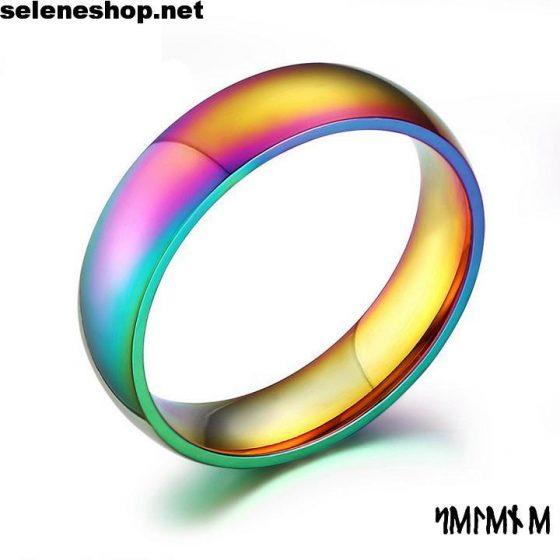anello multicolor titanio