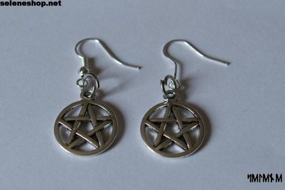 orecchini pentacolo argento