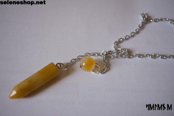 pendolo radioestesia aragonite gialla
