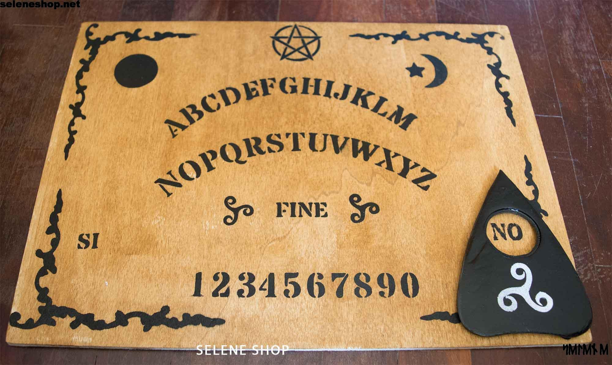 Tavola Ouija con triskell pentacolo ed in italiano!