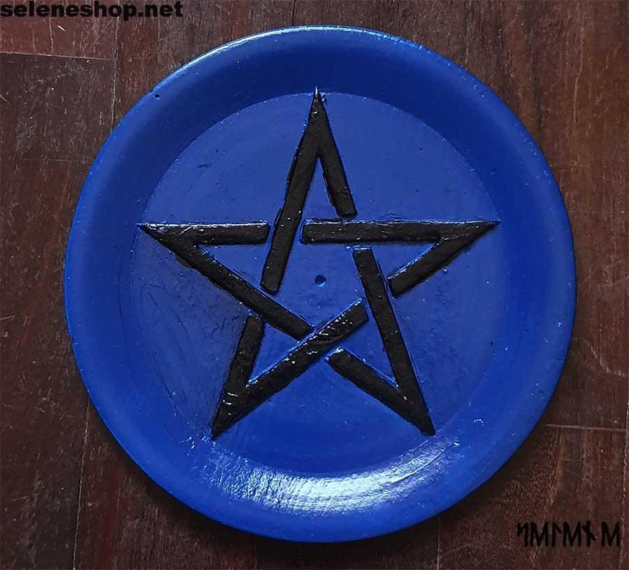 Piattino brucia incenso blu