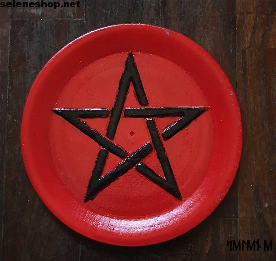 Piattino brucia incenso rosso