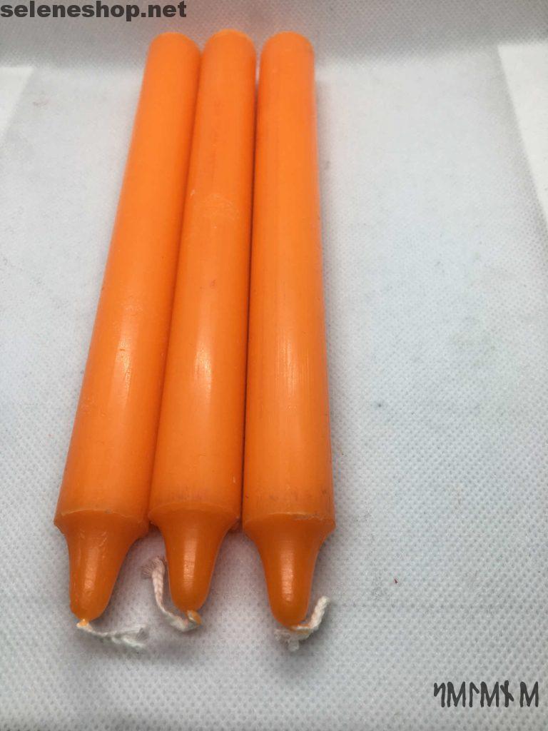 candele rituali arancione