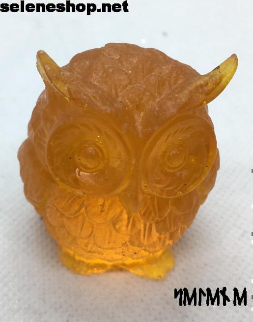 statuetta gufo arancione