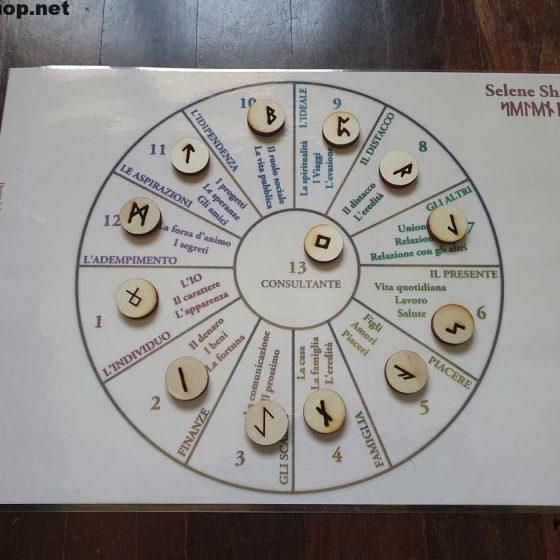 esempio utilizzo tappetino zodiacale rune