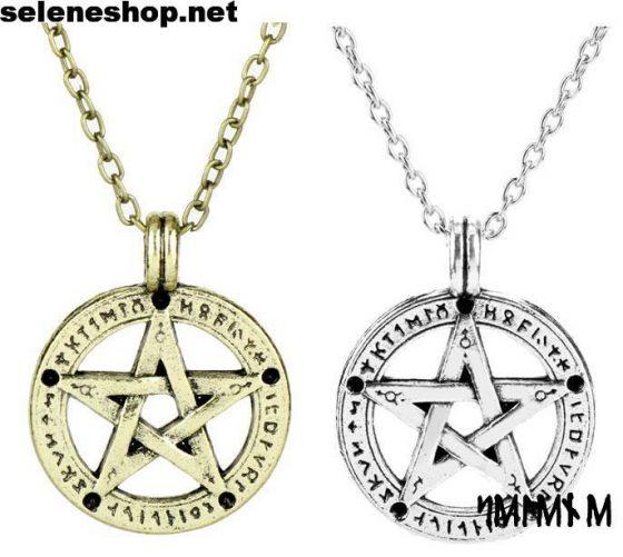 pentacolo con rune oro ed argento