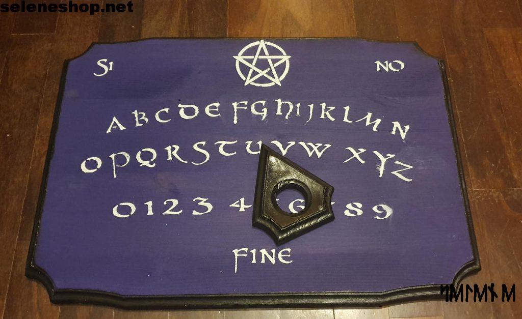 Tavola Ouija viola in legno