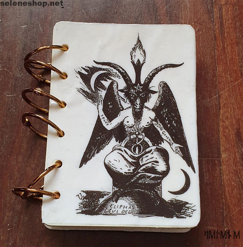 Mini libro delle ombre baphomet