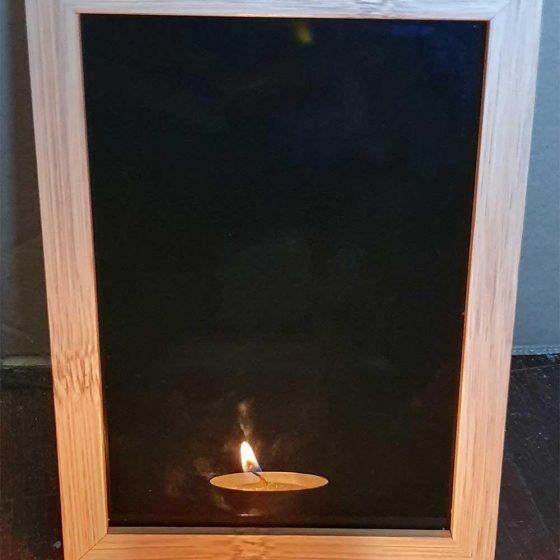 Specchio nero da divinazione black mirror cornice in legno