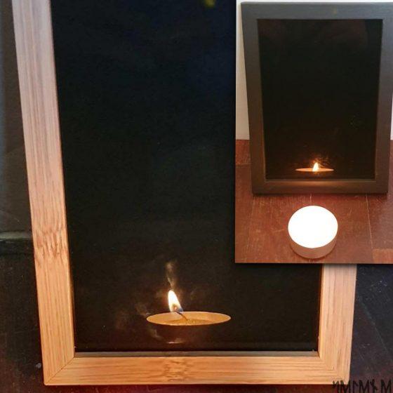 Specchio nero cornice legno