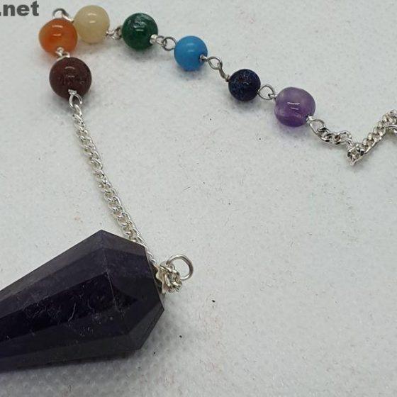 pendolo Chakra e Ametista Premium