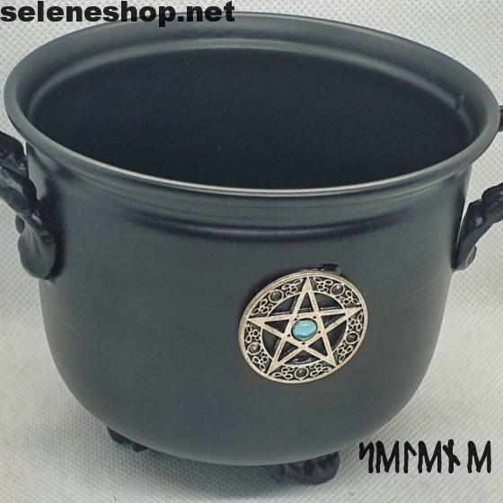 metal pentacle cauldron
