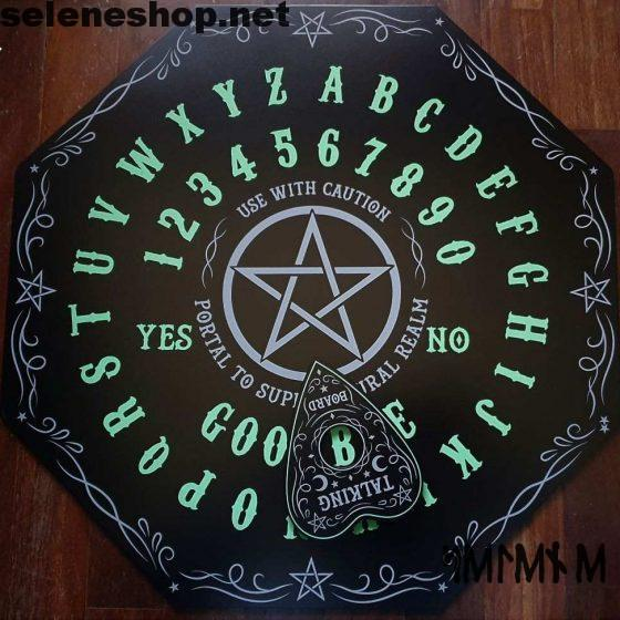 Glow in the Dark Octagon Spirit Board Ouija board glowing in the dark