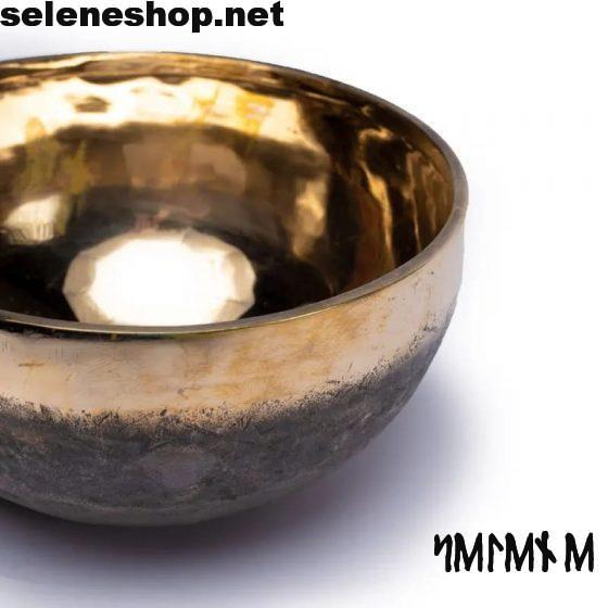 dettaglio Campana tibetana Ishana nero-oro