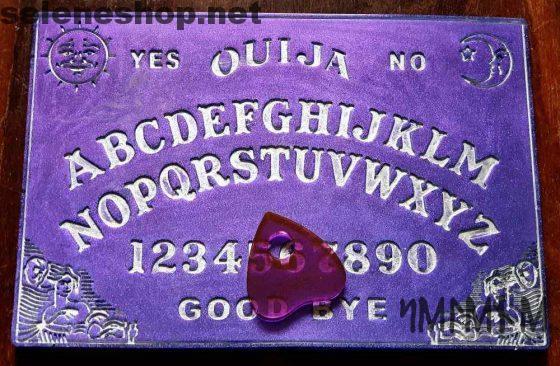 tavola ouija in resina viola metallizzato