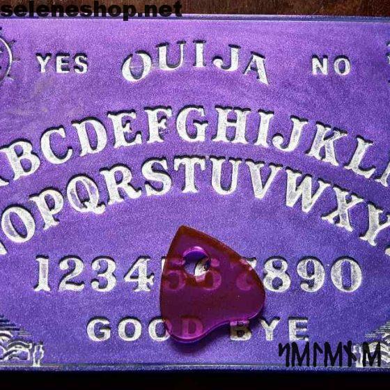 ouija board in metallic purple resin