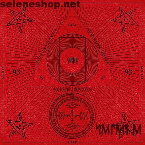 Goetia Cloth - Tappetino telo divinazione velluto rosso