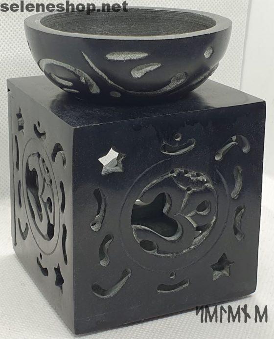 Brucia essenze Ohm in pietra ollare nero